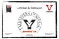 Certif BARISTA Christophe D