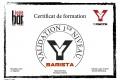 Certif BARISTA John B