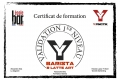Certif BARISTA & LATTE ART ALEXANDRA S